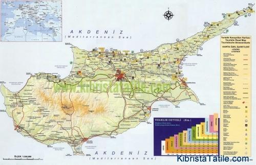 Kuzey Kıbrıs Haritası