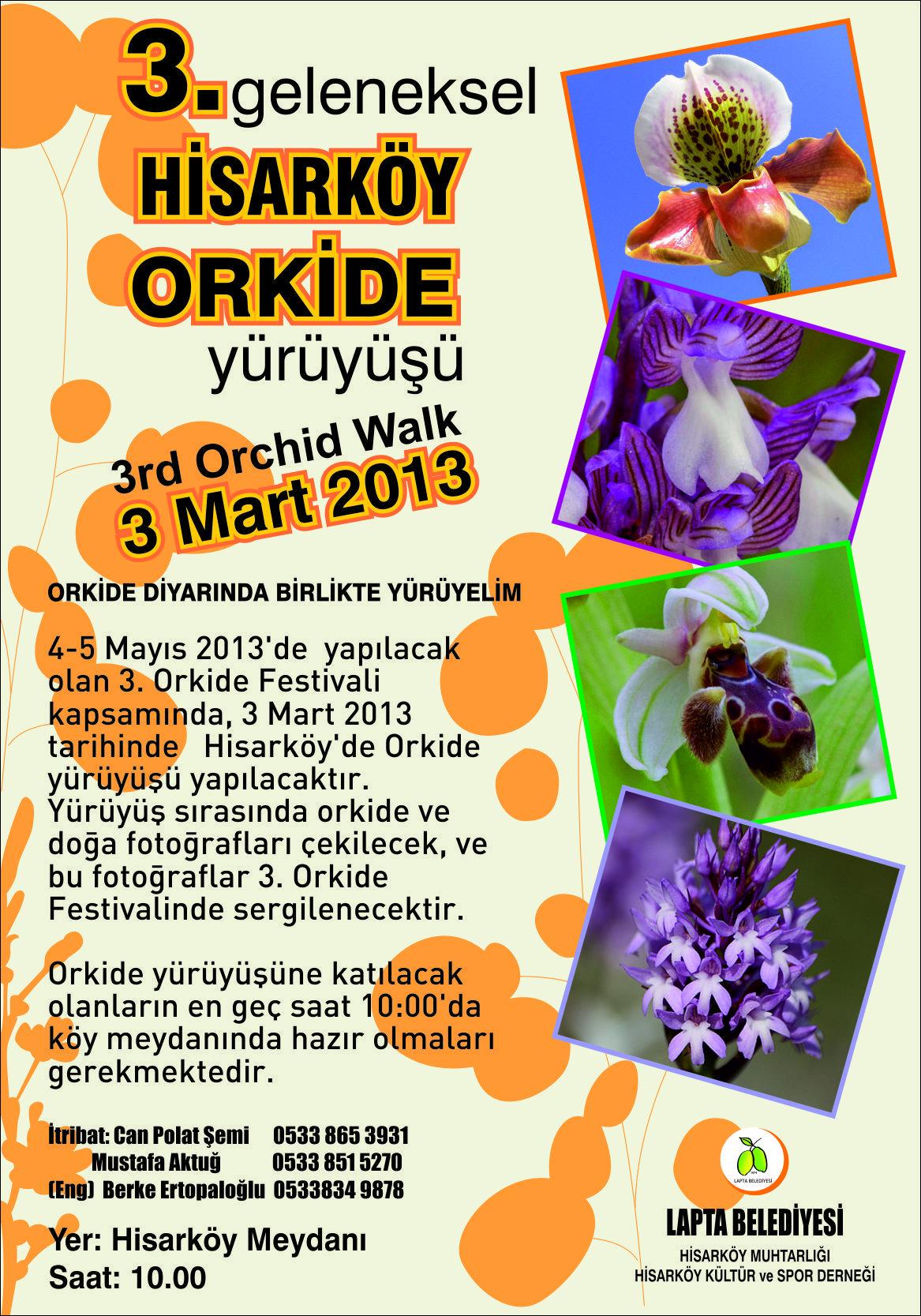 hisarköy orkide yürüyüşü